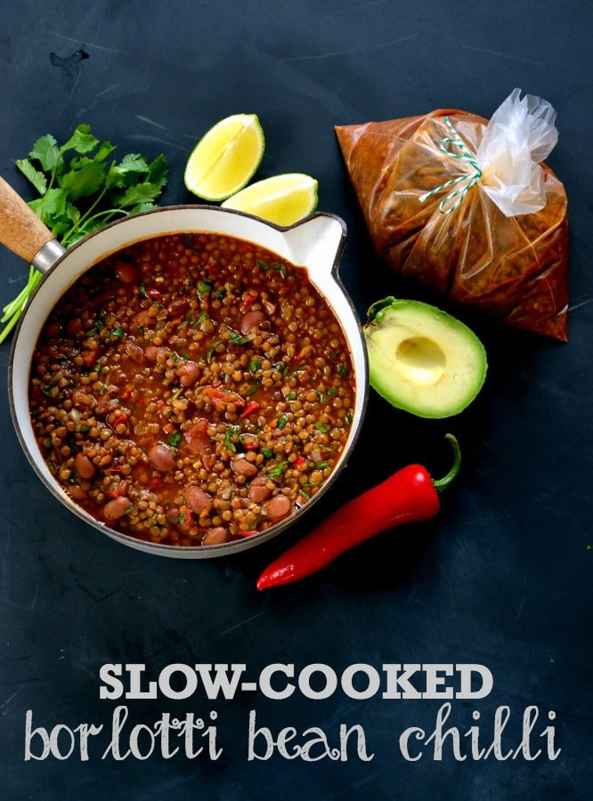 Slow-Cooked Borlotti Bean Chilli