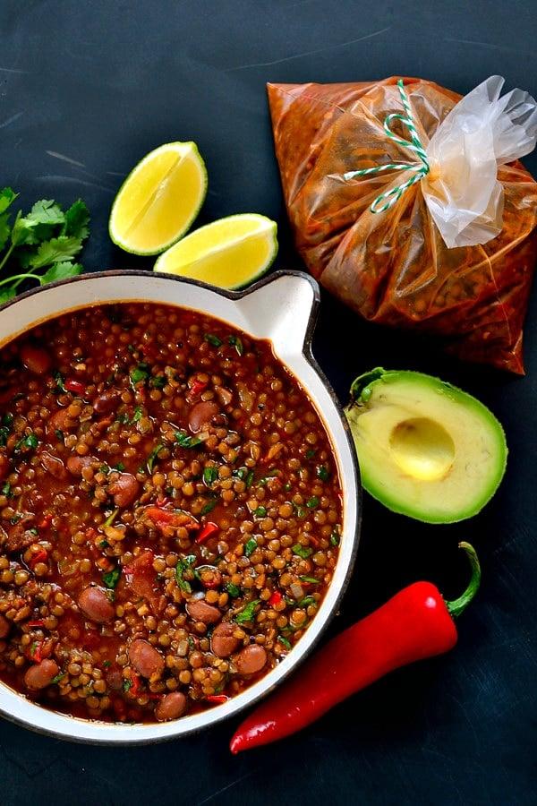 Slow-Cooked Borlotti Bean Chilli