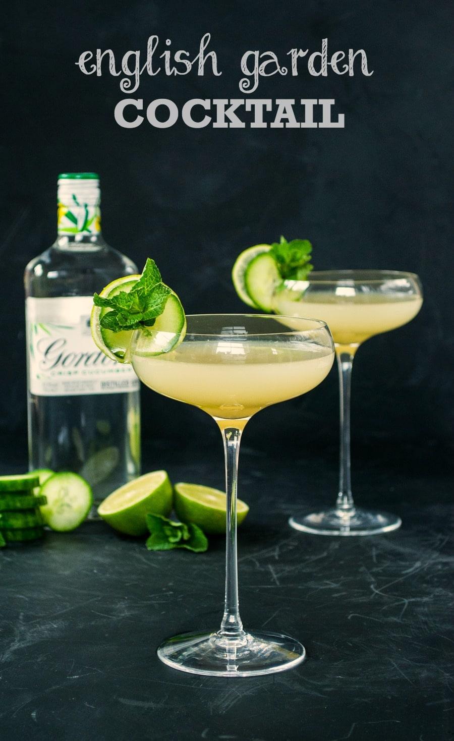 Recipe English Garden Cocktail The Veg Space