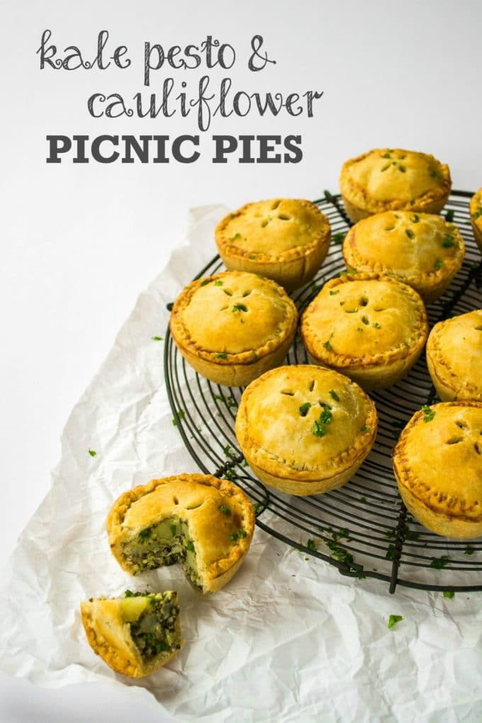Kale Pesto & Cauliflower Picnic Pies