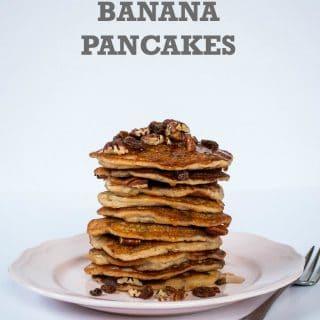 Pecan & Maple Banana Pancakes