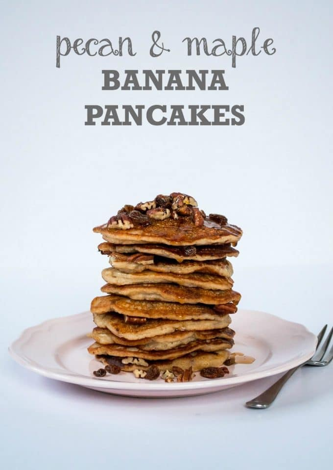 Pecan & Maple Banana Pancakes