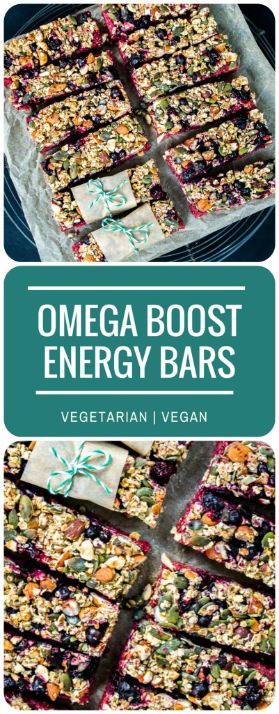 Omega Boost Beetroot & Blackcurrant Energy Bars