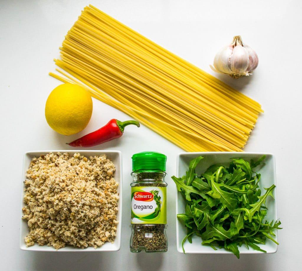 Lemony Linguine Pangrattato
