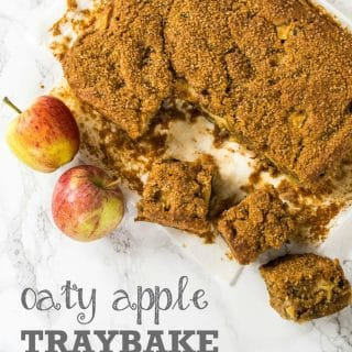 Oaty Apple Traybake - Vegan