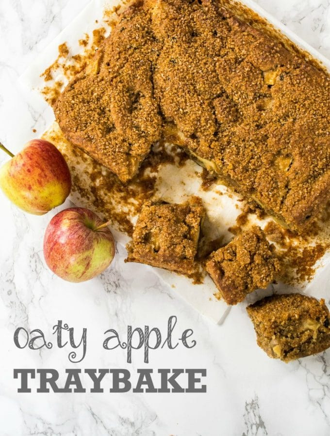Oaty Apple Traybake - Vegan