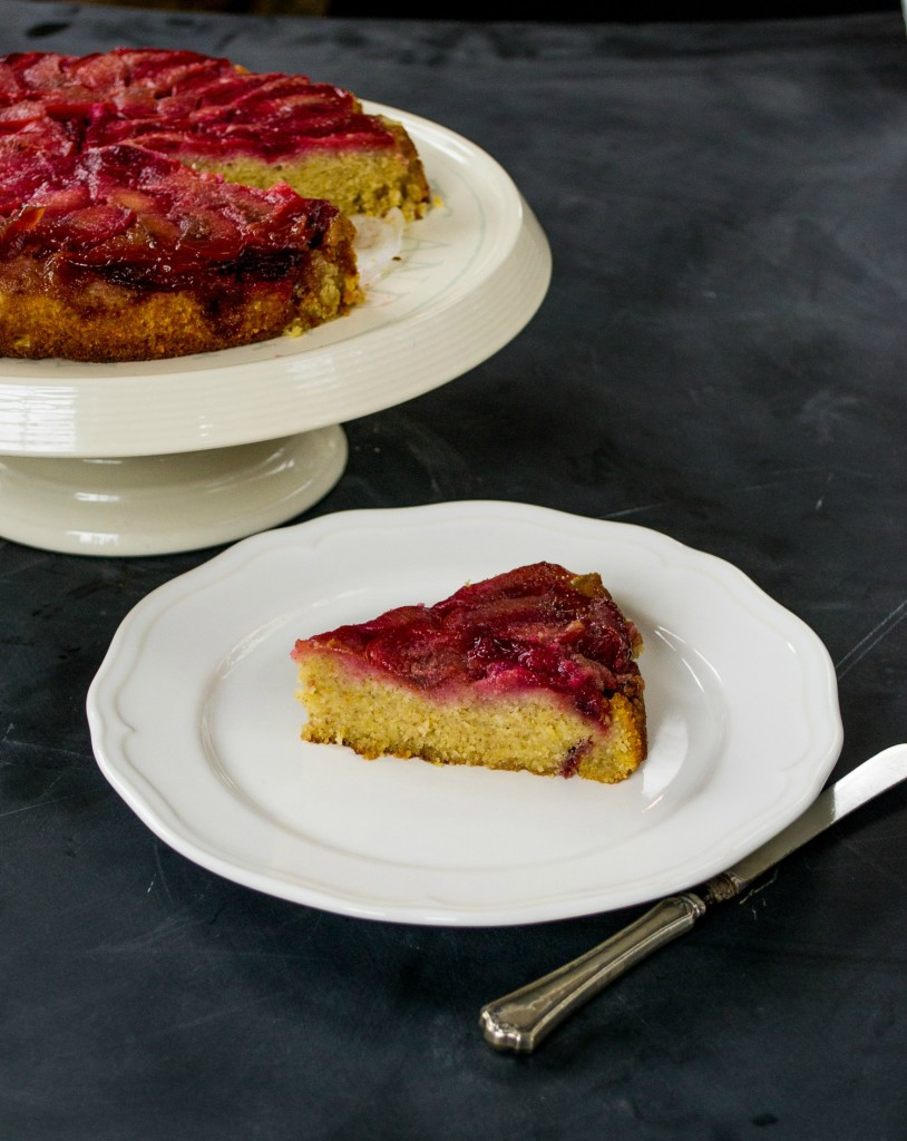 Plum & Polenta Upside-Down Cake 2