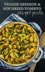 Recipe: Veggie Sausage & Sun Dried Tomato One Pot Pasta