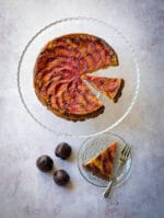 Recipe: Vegan Polenta Cake with plums & lemon syrup