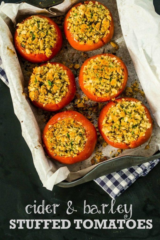 Cider & Barley Stuffed Tomatoes