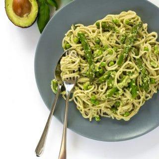 Spelt Spaghetti & Avocado Pesto