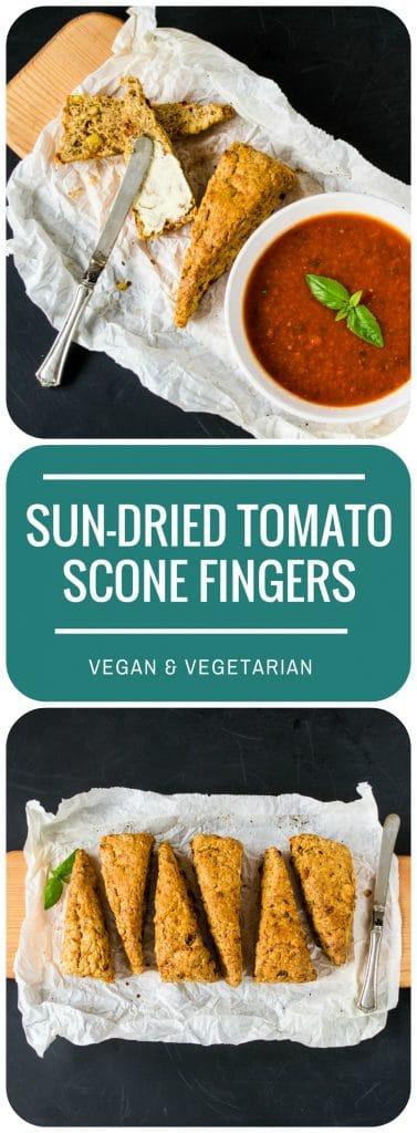 Vegan Sun Dried Tomato & Pine Nut Scone Fingers