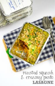 Roasted Squash & Creamy Pesto Vegan Lasagne