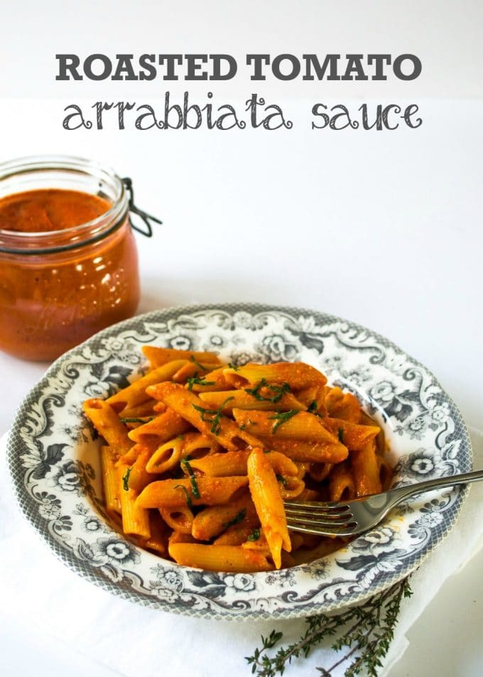 Really lovely roasted tomato Arrabbiata Sauce is surprisingly easy to make and just packed with flavour. #vegan #plantbased #italian | www.thevegspace.co.uk