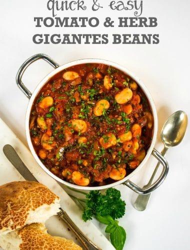 Quick & Easy Tomato & Herb Gigantes Beans