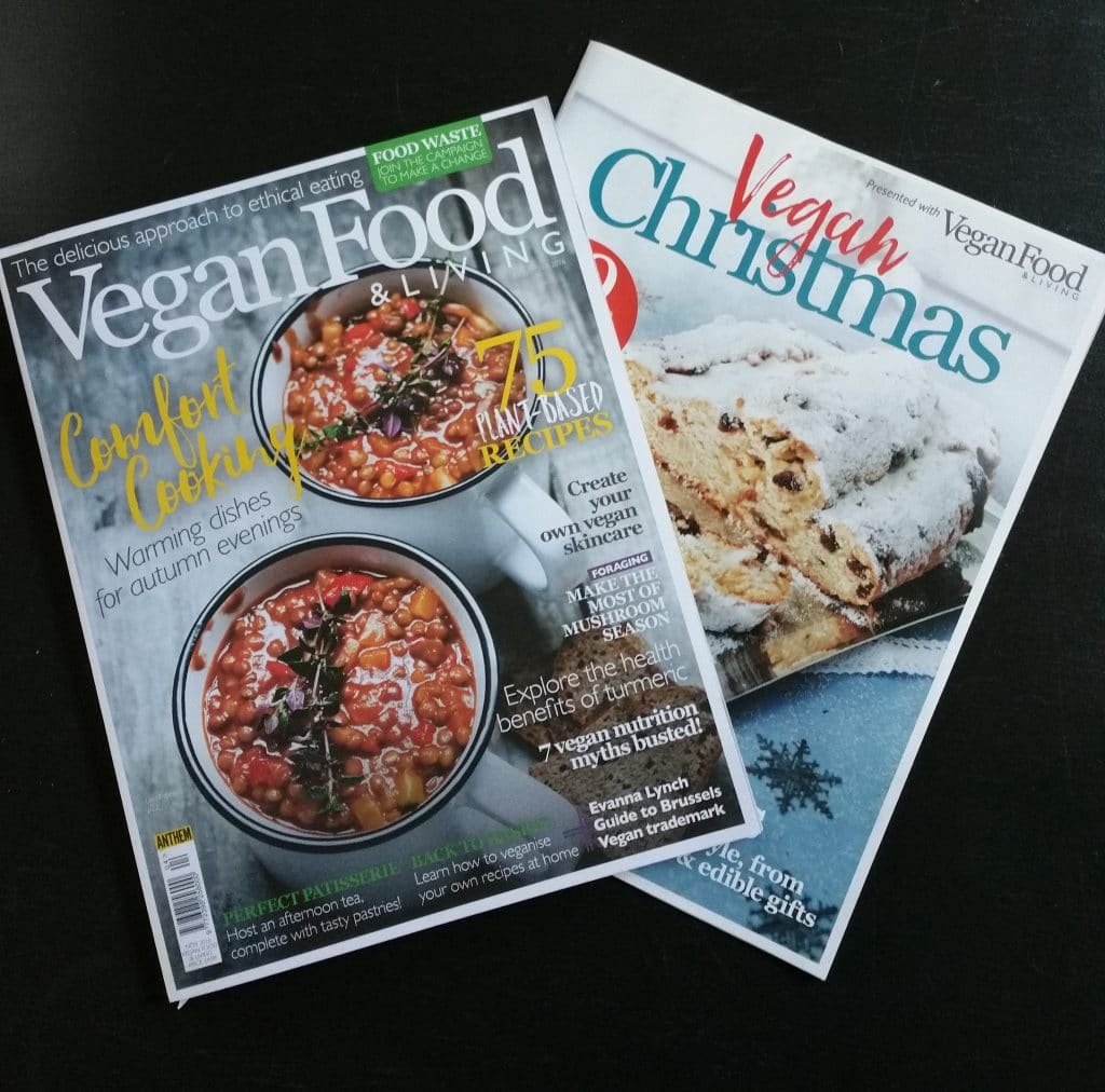 Press media the veg space november 2016 vegan food living magazine 4 page spread of party food recipes forumfinder Gallery