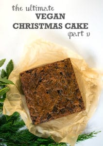 Ultimate Vegan Christmas Cake