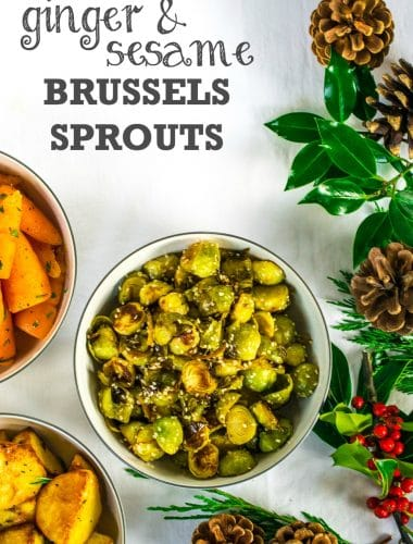 Christmas Dinner Recipe: Ginger & Sesame Brussels Sprouts