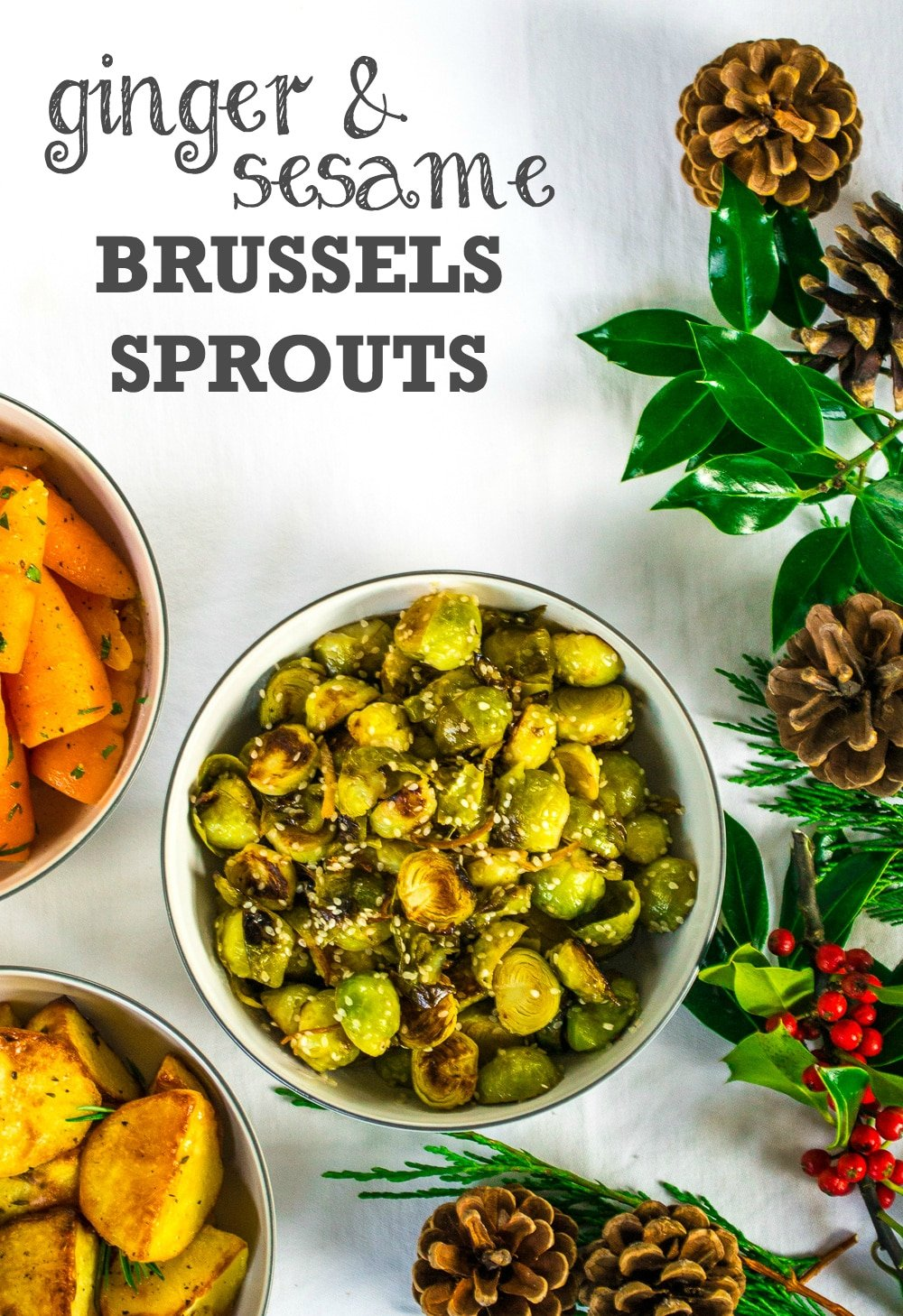 Ginger & Sesame Brussels Sprouts