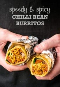 Speedy & Spicy Chilli Bean Burritos | Vegan & Vegetarian