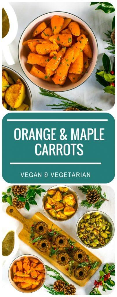 Orange & Maple Carrots | Vegan & Vegetarian
