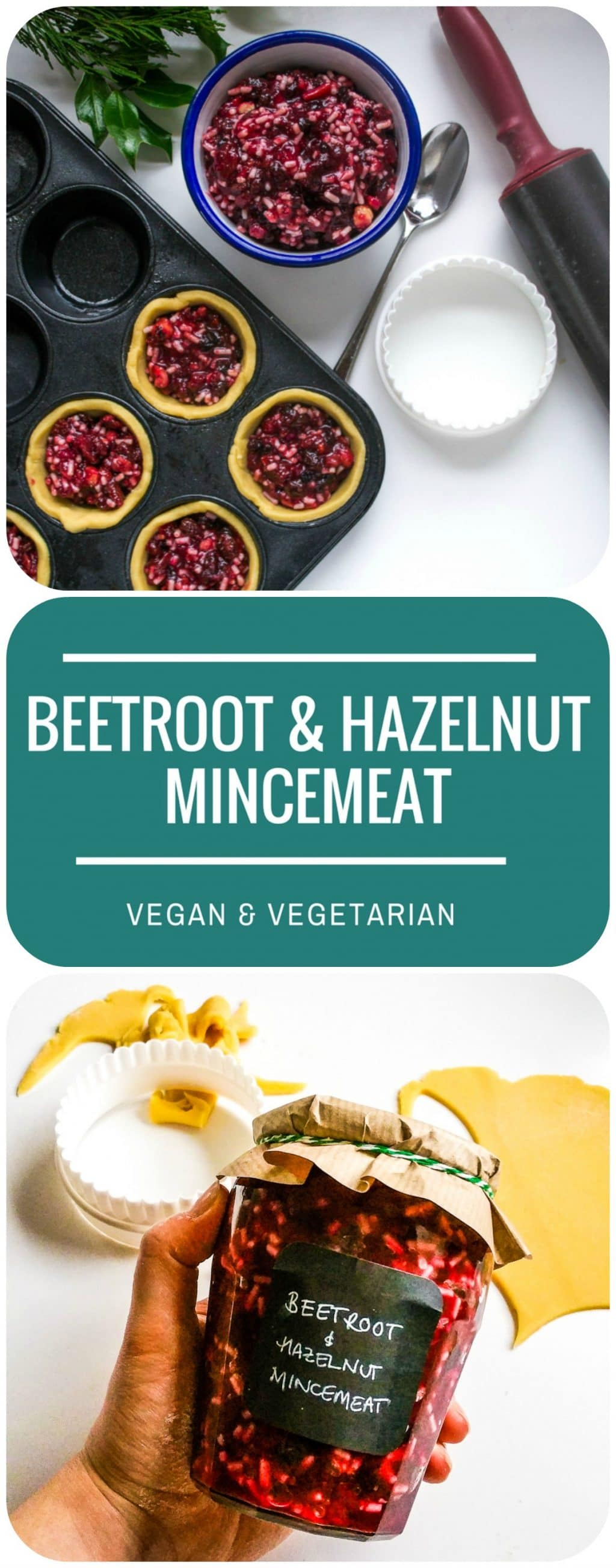 Easy Beetroot & Hazelnut Mincemeat | Vegetarian & Vegan