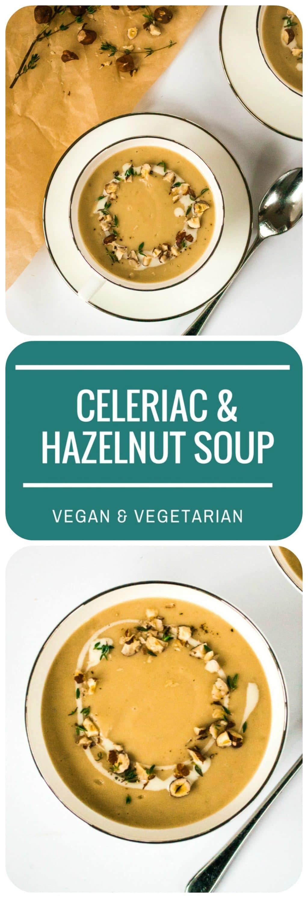 Celeriac & Hazelnut Soup | Vegan & Vegetarian