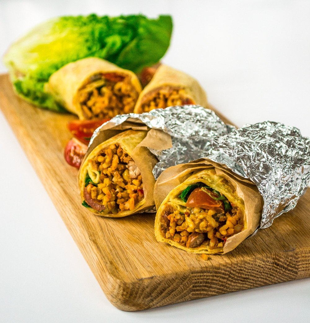 Vegan Burritos   Speedy & Spicy Chilli Bean