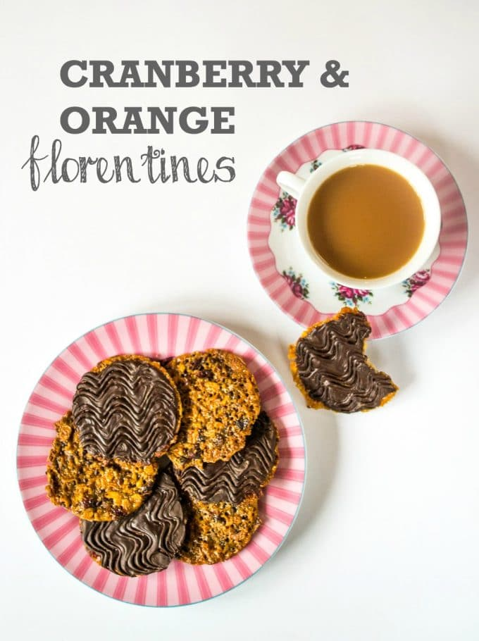Cranberry & Orange Florentines | Vegan