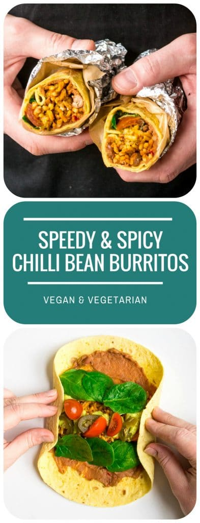 Speedy & Spicy Chilli Bean Burritos   Vegan & Vegetarian