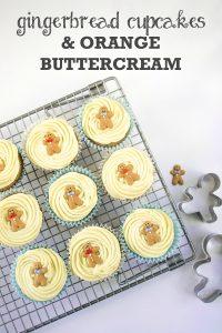 Gingerbread Cupcakes with Orange Buttercream (Vegan)