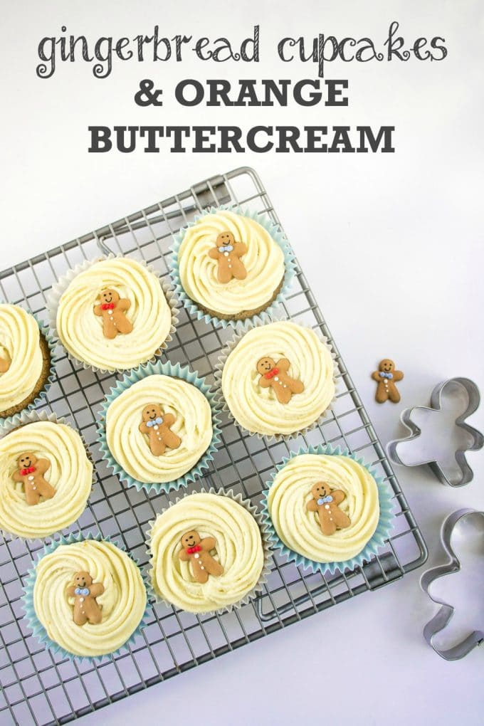 Gingerbread Cupcakes with Orange Buttercream (Vegan)