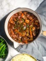 Recipe: Chestnut Mushroom Bourguignon