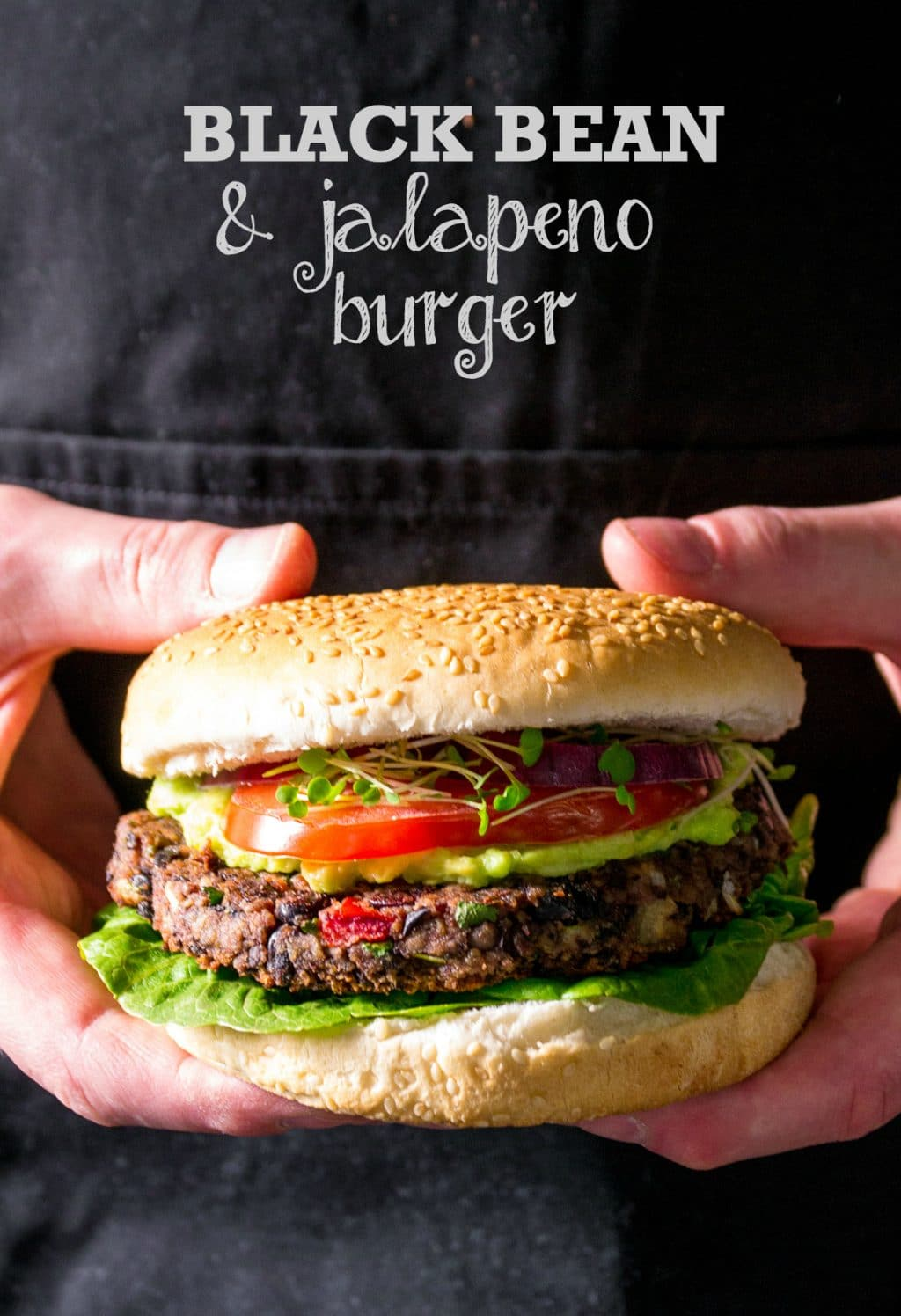 Vegan BBQ Black Bean & Jalapeno Burger