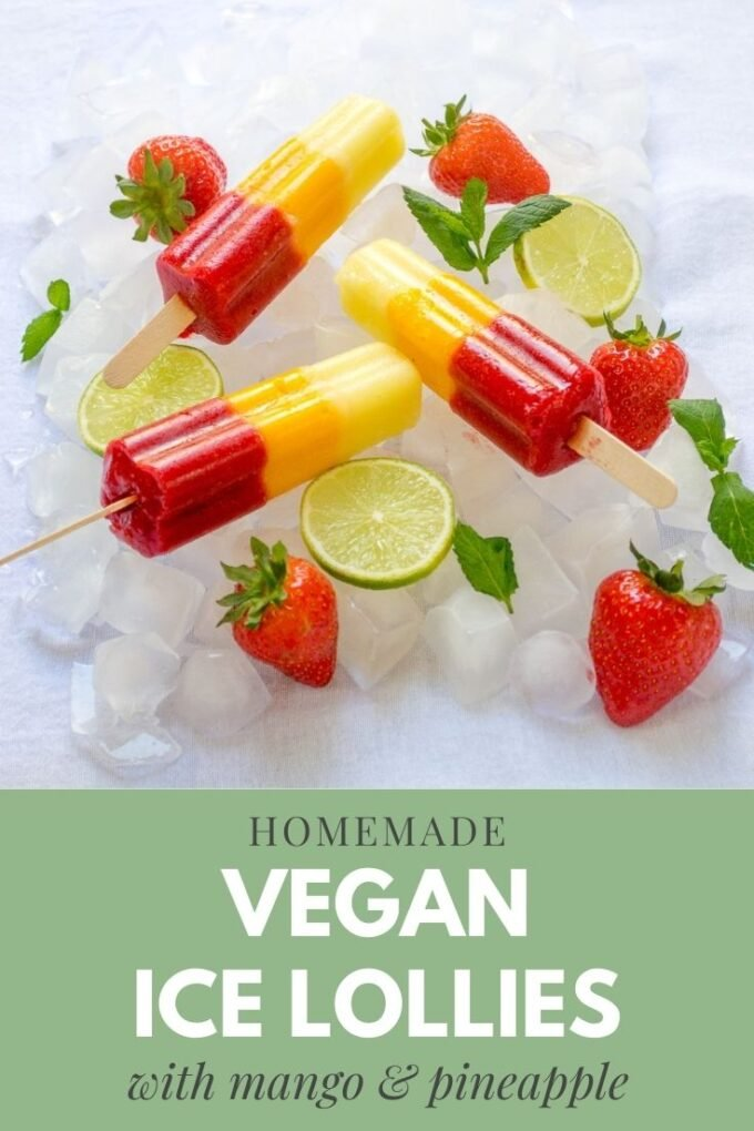 Pinterest pin for vegan ice lolly recipe