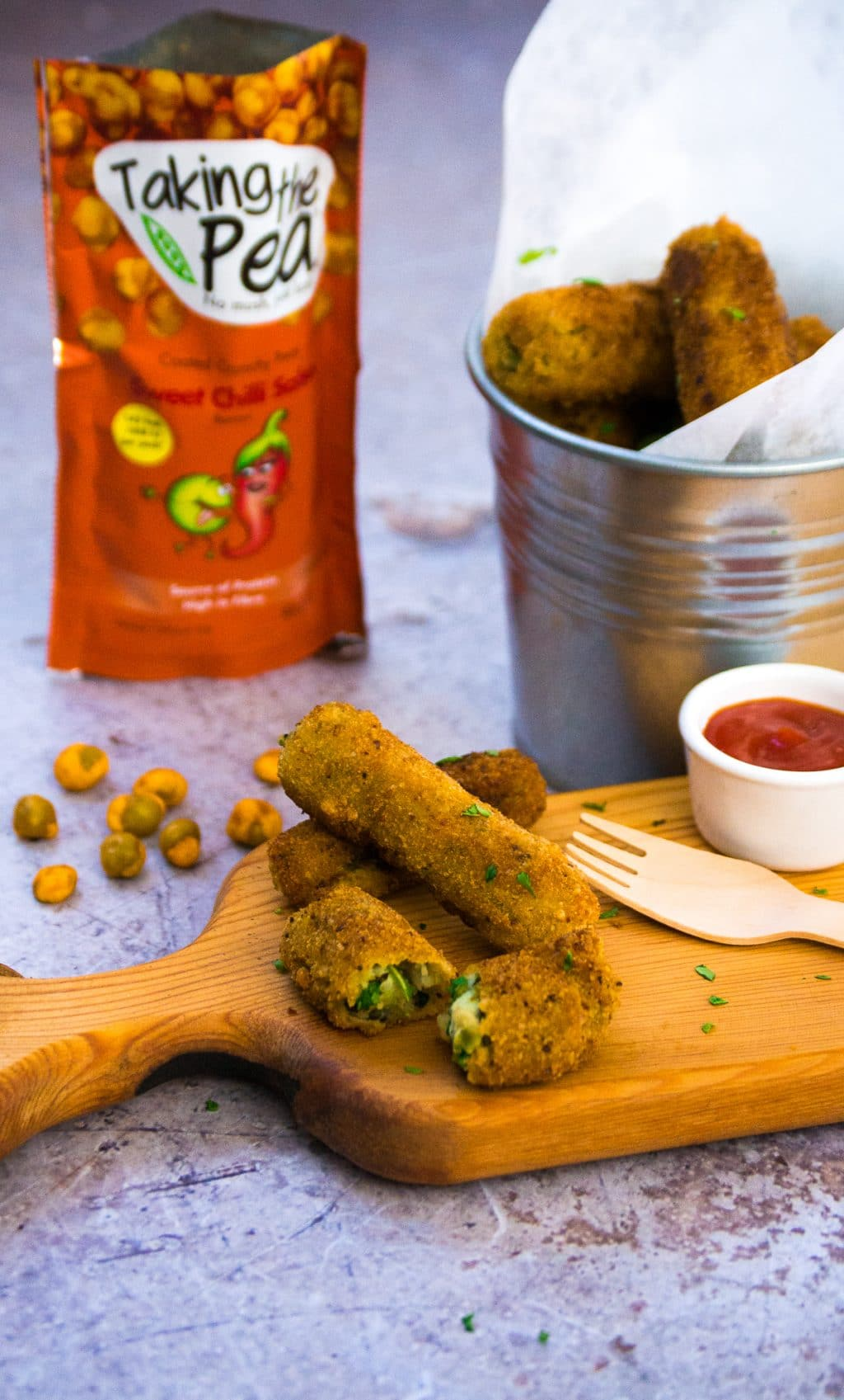 Pea Potato & Pesto Croquettes | Vegan & Vegetarian