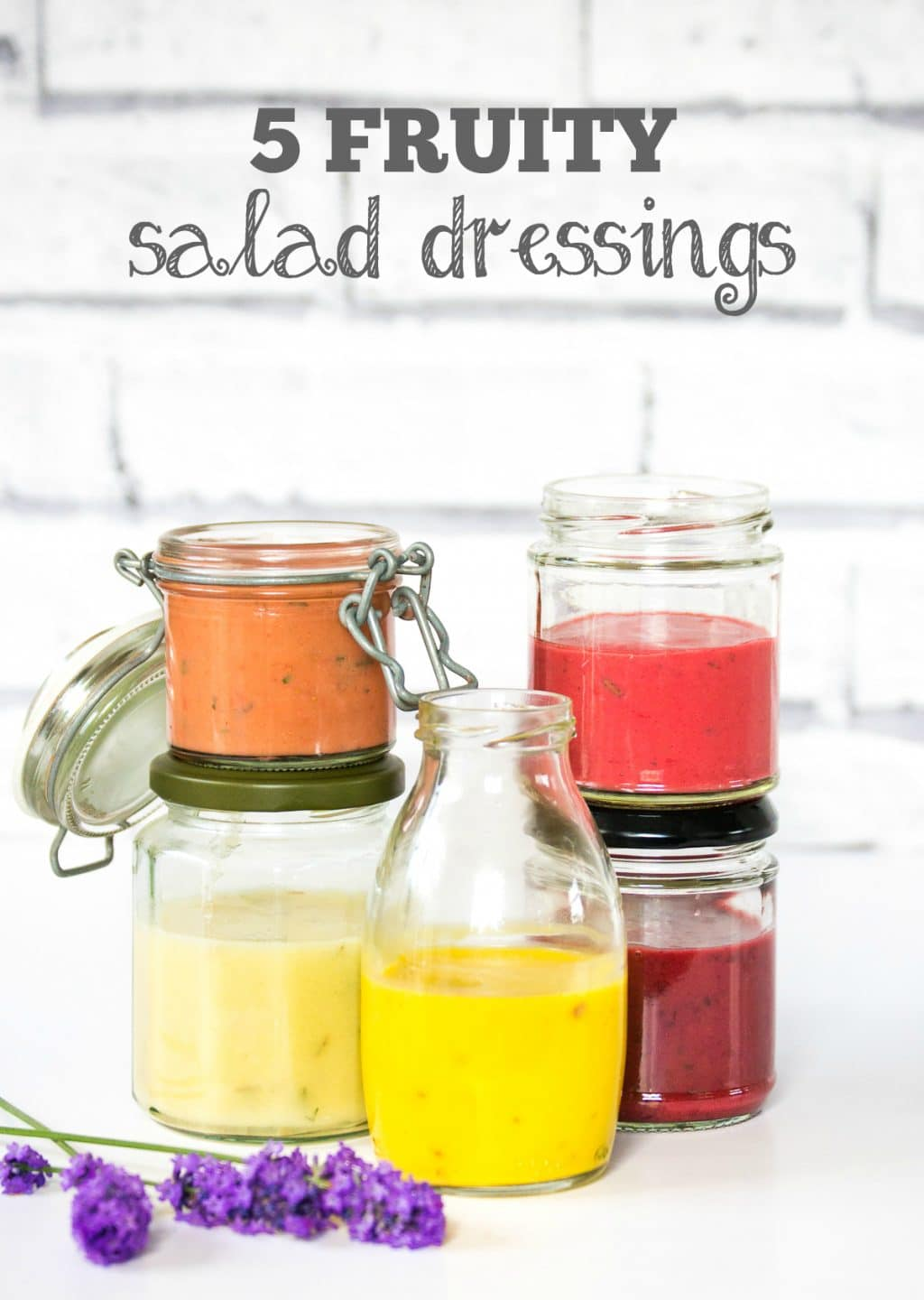 Five Fruity Salad Dressings