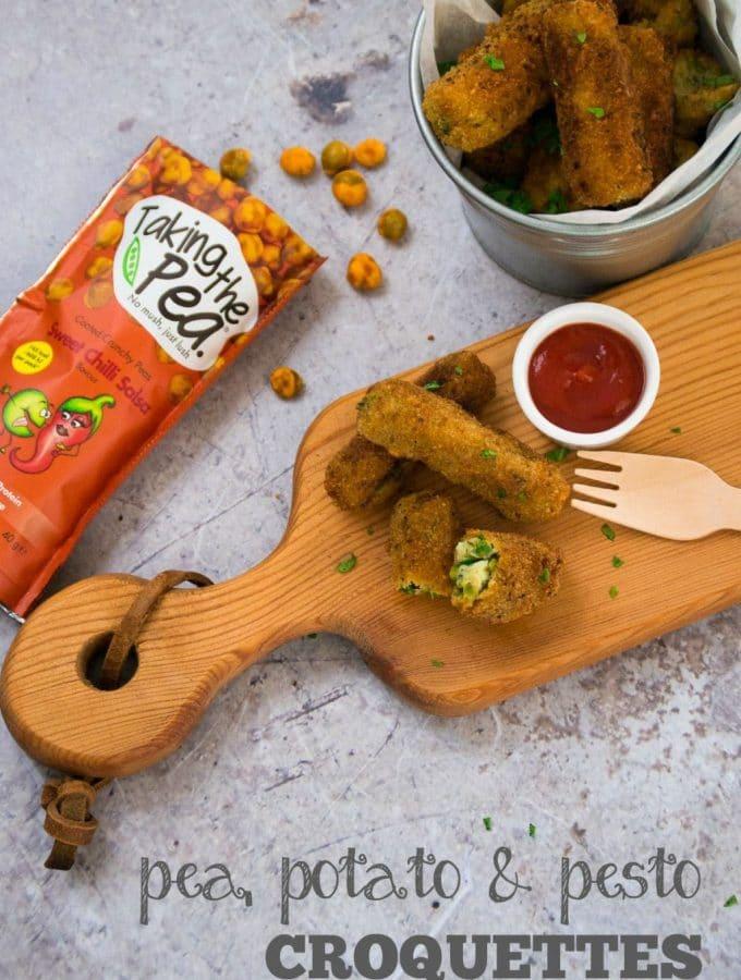 Pea Potato & Pesto Croquettes | Vegan & Vegetarian