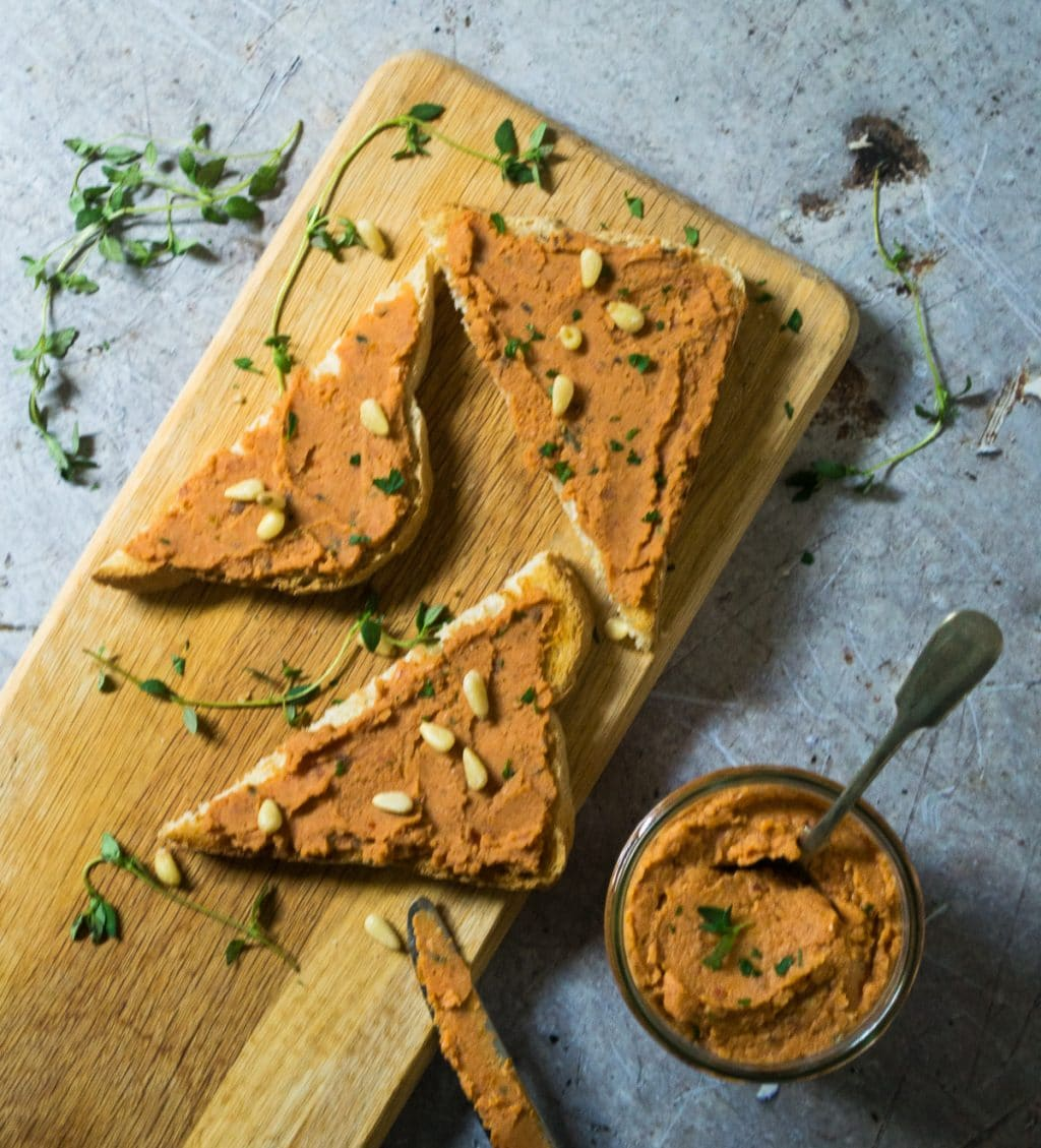 Sun-dried Tomato Butterbean Pate Vegan