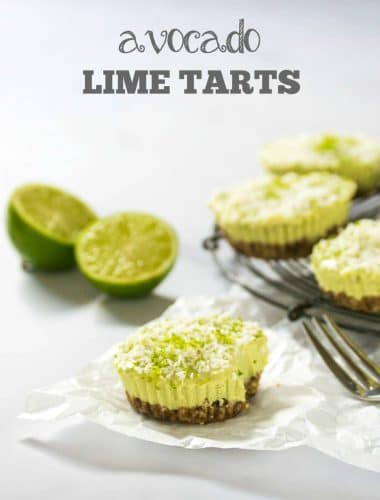Avocado Lime Tarts Vegan