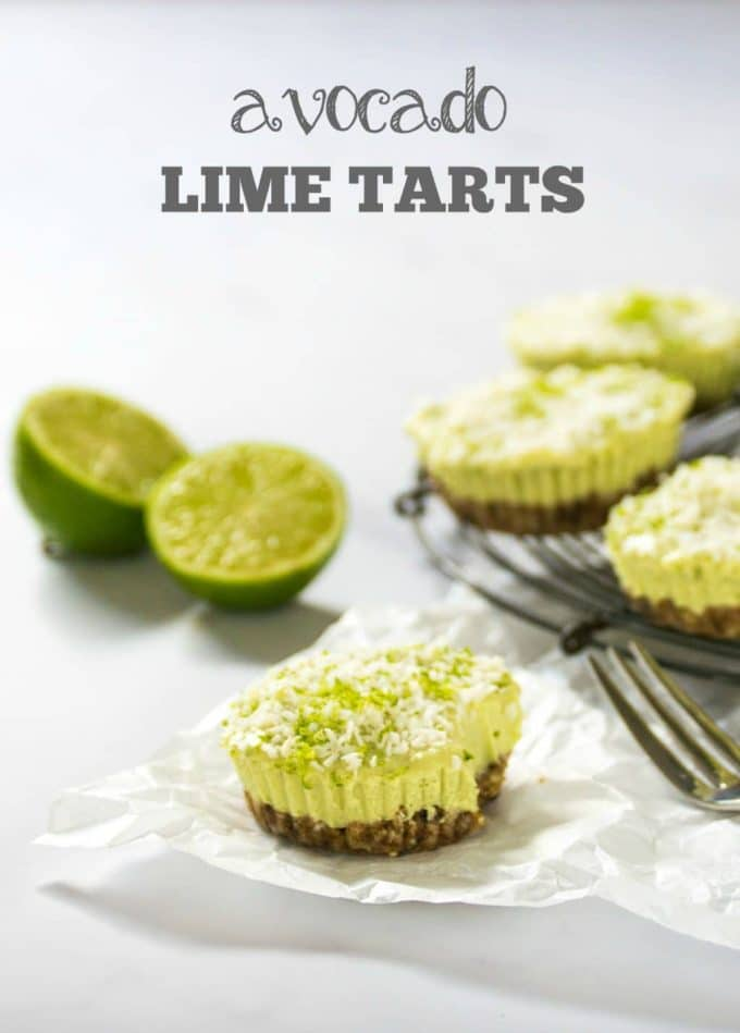 Avocado Lime Tarts Vegan