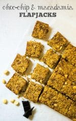 Recipe: Choc-Chip Macadamia Flapjacks (Vegan)