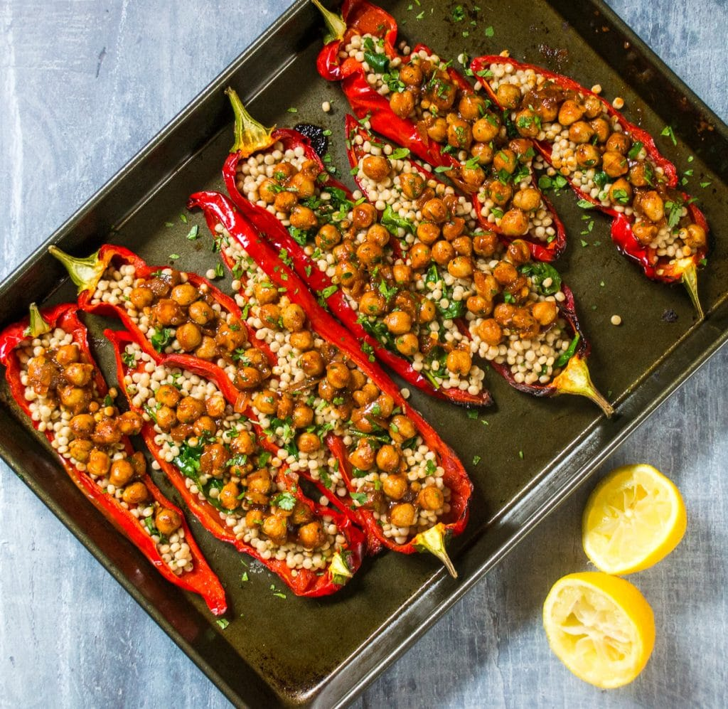 Moroccan Stuffed Peppers #vegan #plantbased | thevegspace.co.uk