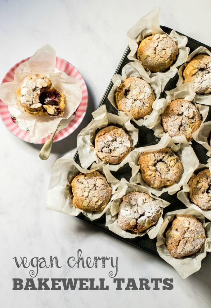 Vegan Cherry Bakewell Tarts