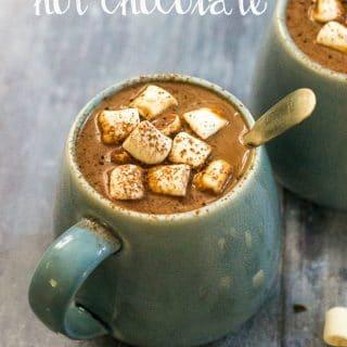Vegan Hazelnut Hot Chocolate