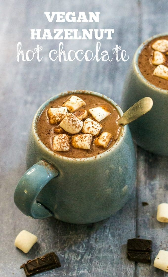 Vegan Hazelnut Hot Chocolate