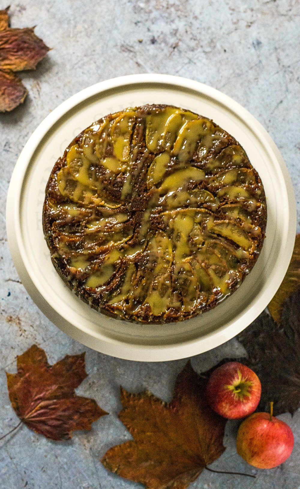 Vegan Sticky Toffee Apple Cake