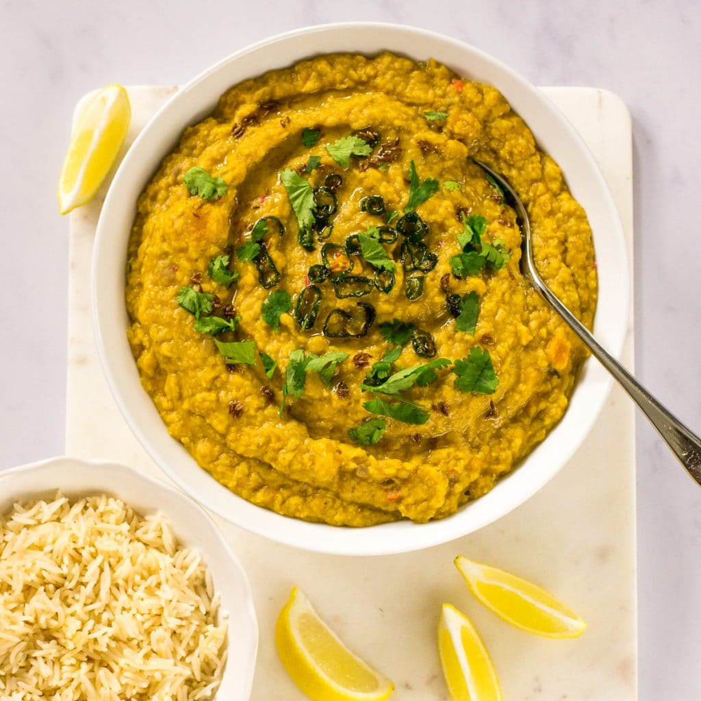 Slow Cooker Butternut Dhal | Vegan