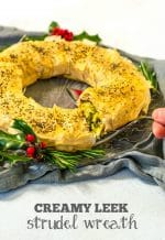 Vegan Christmas Recipe: Creamy Leek Strudel Wreath