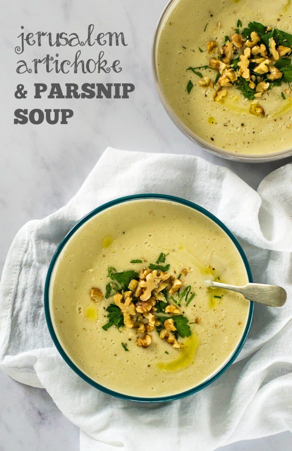 Roasted Jerusalem Artichoke & Parsnip Soup